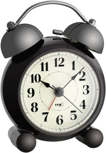 Quarz Wecker TFA 60.1014 Dunkelbraun Alarmzeiten 1