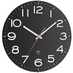 Analógové nástenné DCF hodiny TFA 30 cm, čierne