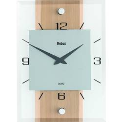 Analógové nástenné hodiny drevo/sklo/hliník, buk