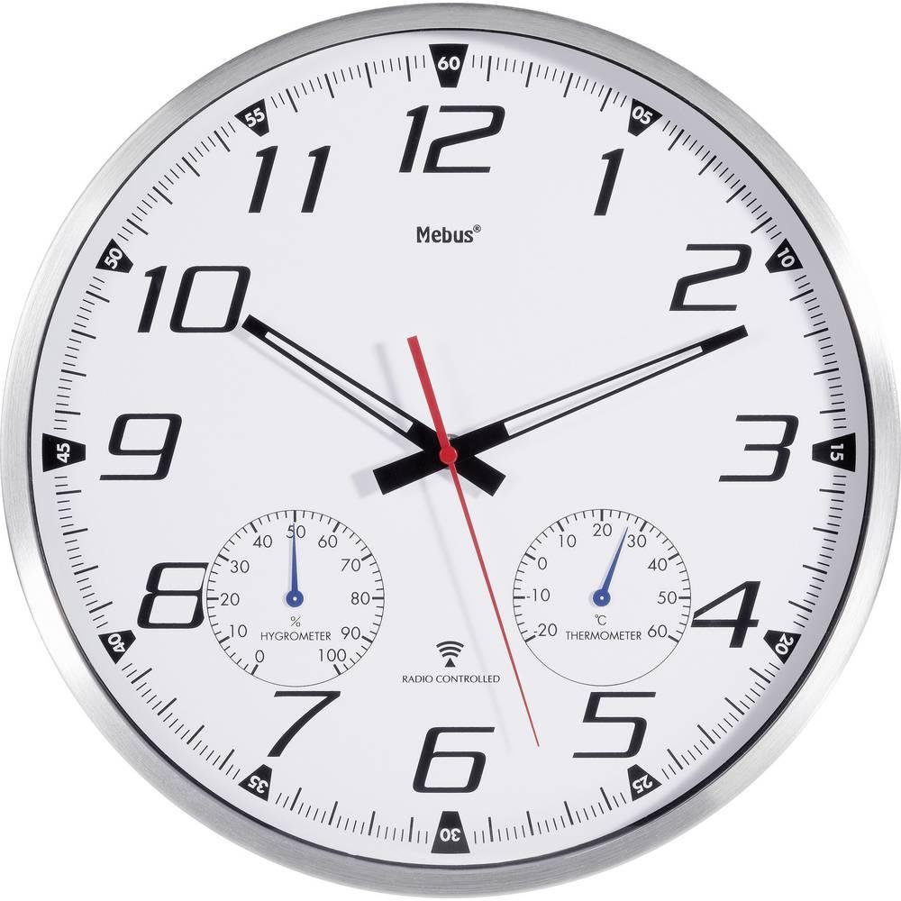 Horloge murale mebus thermo hygrom tre t2m radio pilot e for Castorama horloge