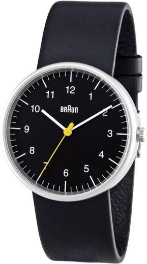 Braun Quarz Armbanduhr BN0021BKBKG (Ø x H) 38 mm x 8.5 mm Edelstahl Gehäusematerial=Edelstahl Material (Armband)=Leder
