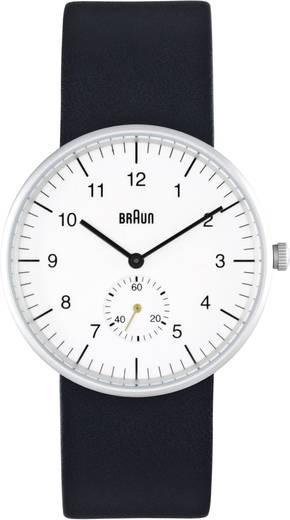 Quarz Armbanduhr BN0024WHBKG (Ø x H) 38 mm x 8.5 mm Edelstahl Gehäusematerial=Edelstahl Material (Armband)=Leder Braun