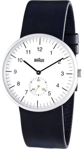 Braun Quarz Armbanduhr BN0024WHBKG (Ø x H) 38 mm x 8.5 mm Edelstahl Gehäusematerial=Edelstahl Material (Armband)=Leder