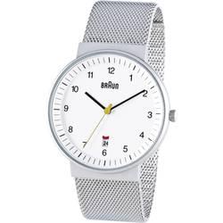 Ručičkové náramkové hodinky Braun Quartz, bílá - Braun BN0032WHSLMHG - Braun BN0032WHSLMHG