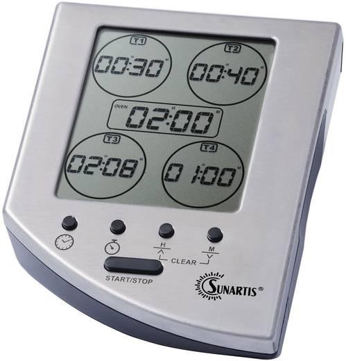 Timer Sunartis EC 341 Silber digital
