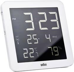 Digitální nástěnné Braun DCF hodiny, 66028, 210 x 210 x 23 mm, bílá