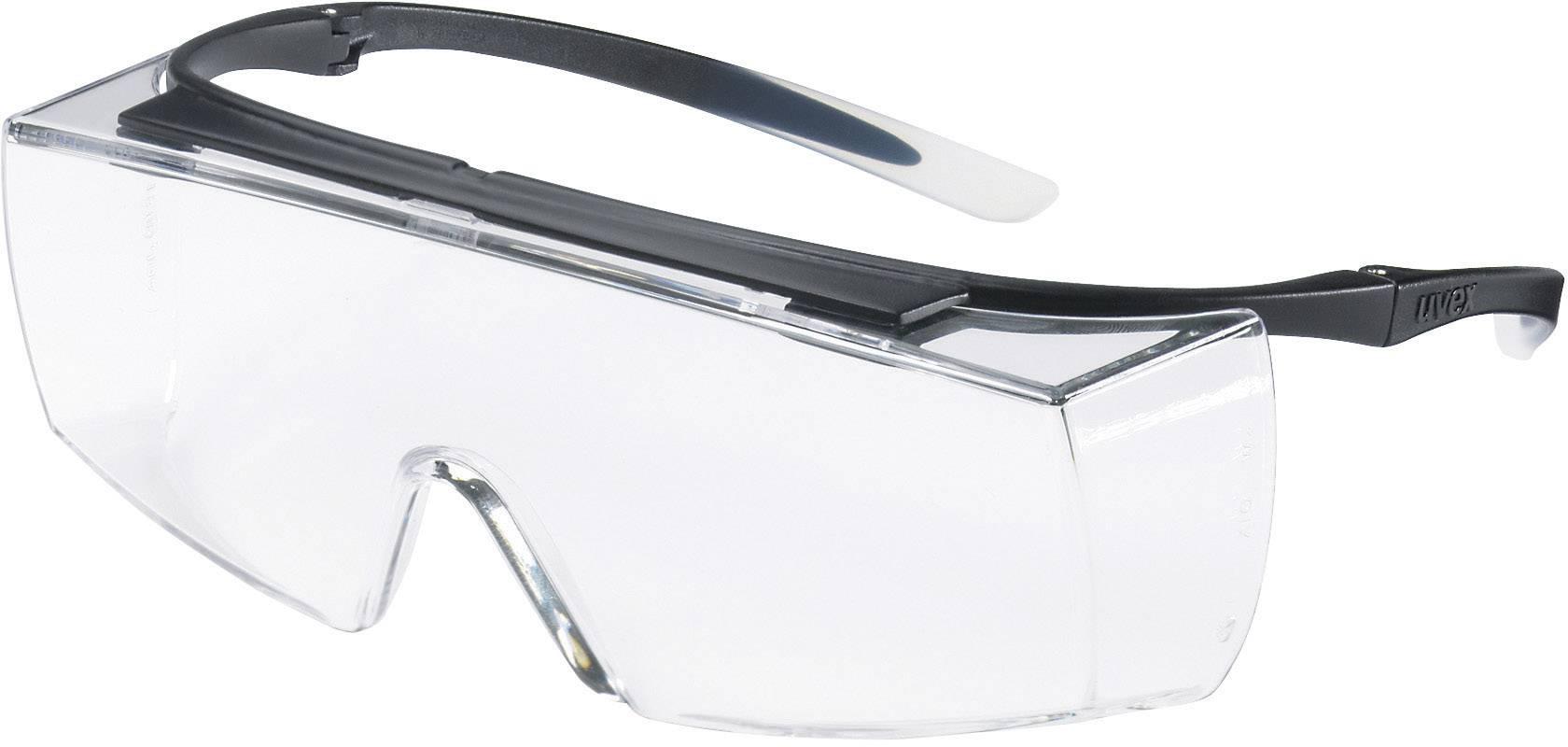 Transparent//Schwarz Uvex Super Fit Schutzbrille Supravision Plus