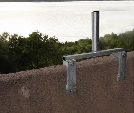 SAT-Brüstungshalterung A.S. SAT 32905 Passend für Spiegelgröße: Ø bis 100 cm Silber
