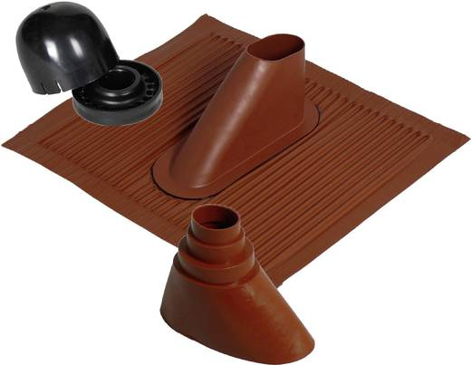 Dachziegel-Dichtung A.S. SAT 44510 Passend für Mast-Ø (max.): 50 mm Ziegel-Rot