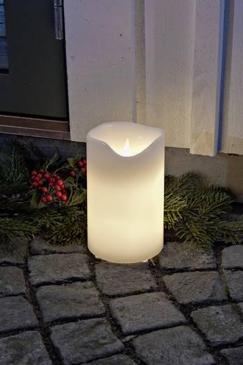LED-Echtwachskerze Weiß Warm-Weiß (Ø x H) 12.5 cm x 20 cm Konstsmide