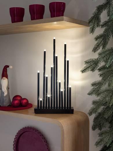 Tisch-Dekoration Metallleuchter Warm-Weiß LED Konstsmide 2496-710TR Schwarz