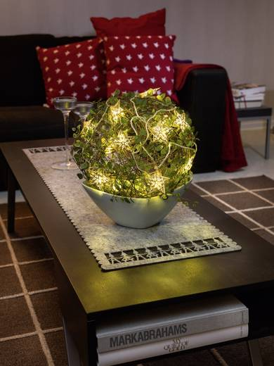 Motiv-Lichterkette Sterne 16 LED Warm-Weiß Beleuchtete Länge: 3 m Konstsmide 3171-803