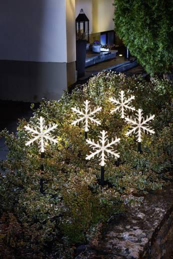 LED-Weihnachtsdekoration Schneeflocken Warm-Weiß LED Konstsmide 4445-103 Transparent