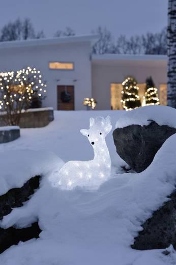 Acryl-Figur Rentier Kalt-Weiß LED Konstsmide 6181-203 Weiß