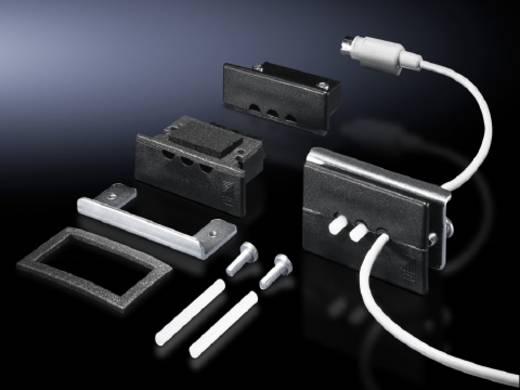 Kabeldurchführungsplatte 3-fach Klemm-Ø (max.) 6 mm Kunststoff Schwarz (RAL 9005) Rittal SZ 2400.500 5 St.