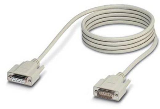 Seriell, Parallel Anschlusskabel [1x D-SUB-Buchse 15pol. - 1x D-SUB-Stecker 15pol.] 2 m Weiß Phoenix Contact