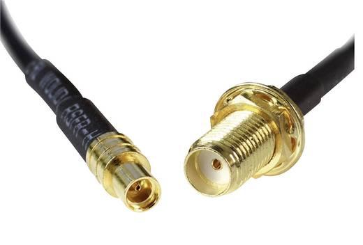 WLAN-Antennen Verlängerungskabel [1x SMA-Buchse - 1x MMCX Buchse] 0.20 m Schwarz vergoldete Steckkontakte Delock