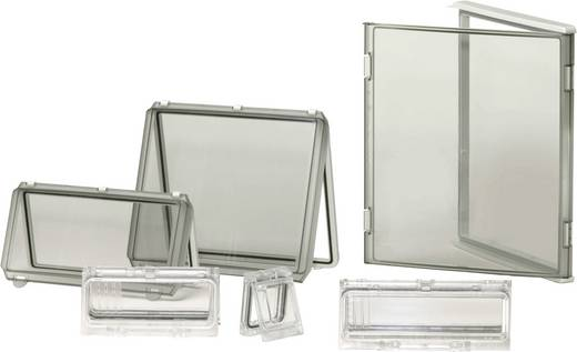 Gehäusedeckel Deckel Grau (L x B x H) 380 x 280 x 30 mm Polycarbonat Licht-Grau (RAL 7035) Fibox EKP 30-G-2FSH 1 St.