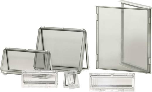 Gehäusedeckel Deckel Transparent (L x B x H) 280 x 280 x 30 mm Polycarbonat Licht-Grau (RAL 7035) Fibox EKO 30-T-2FSH 1