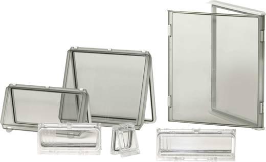 Gehäusedeckel Deckel Transparent (L x B x H) 380 x 190 x 80 mm Polycarbonat Licht-Grau (RAL 7035) Fibox EKM 80-T-2FSH 1