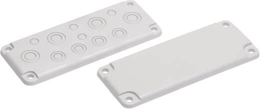 Kabeldurchführungsplatte mit Vorprägung Polycarbonat Licht-Grau (RAL 7035) Fibox MB 10857 1 St.