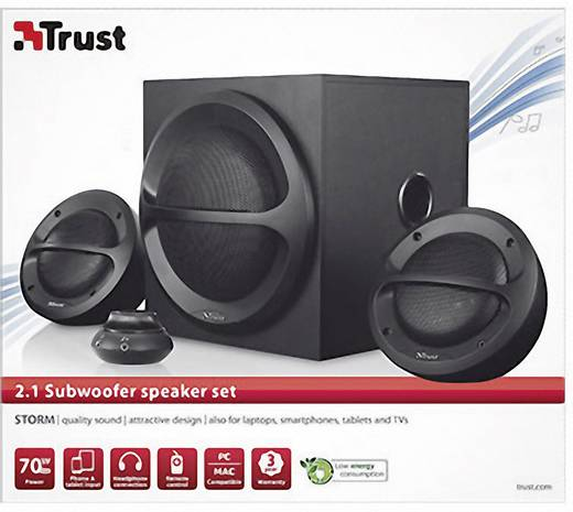 trust storm 2 1 lautsprecher set mit subwoofer kaufen. Black Bedroom Furniture Sets. Home Design Ideas