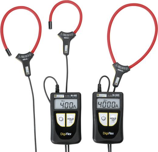 Stromzange, Hand-Multimeter digital Chauvin Arnoux DigiFlex MA400D-170 Kalibriert nach: Werksstandard CAT IV 600 V Anzeige (Counts): 4000