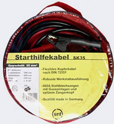 Starthilfekabel 35 mm² Kupfer 4.50 m SK35 mit Stahlblech-Zangen, ohne Schutzschaltung Kupfer SET®