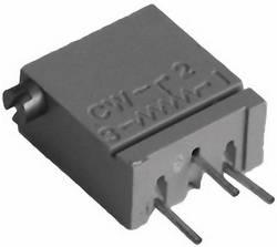 Trimmer Cermet 50 Ω TT Electronics AB 2094110201 réglage horizontal hermétique linéaire 0.5 W 1 pc(s)