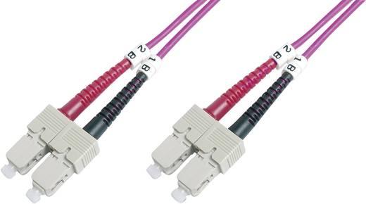 Glasfaser LWL Anschlusskabel [1x SC-Stecker - 1x SC-Stecker] 50/125µ Multimode OM4 1 m Digitus Professional