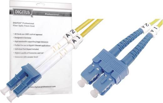 Glasfaser LWL Anschlusskabel [1x LC-Stecker - 1x SC-Stecker] 9/125µ Singlemode OS2 3 m Digitus Professional