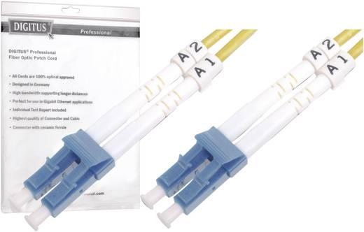 Glasfaser LWL Anschlusskabel [1x LC-Stecker - 1x LC-Stecker] 9/125µ Singlemode OS2 1 m Digitus Professional