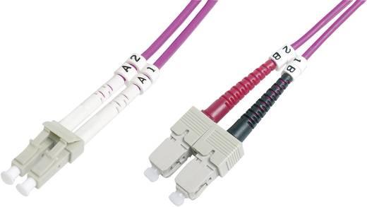 Glasfaser LWL Anschlusskabel [1x LC-Stecker - 1x SC-Stecker] 50/125µ Multimode OM4 5 m Digitus Professional