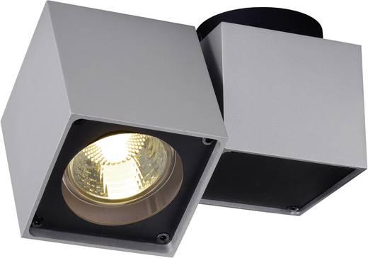 Deckenstrahler Halogen GU10 50 W SLV Altra Dice 151524 Silber-Grau, Schwarz