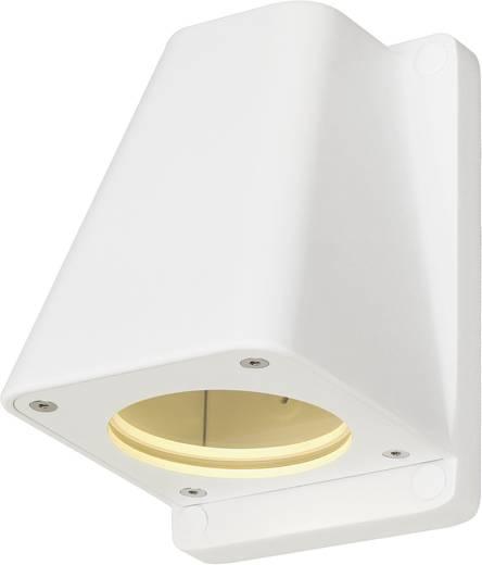 Außenwandleuchte Halogen, LED GU10 50 W SLV Wallyx 227191 Weiß