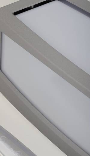 Außenwandleuchte mit Bewegungsmelder Energiesparlampe, LED E27 20 W SLV Meridian 230084 Silber-Grau