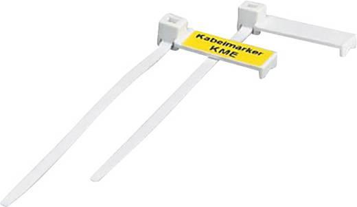 Leitermarkierer Montageart: Kabelbinder Beschriftungsfläche: 20 x 8 mm Passend für Serie Einzeldrähte, Universaleinsatz Weiß Phoenix Contact KME 0807083 50 St.