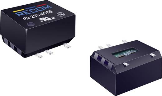 RECOM R0.25S-0505 DC/DC-Wandler, SMD 5 V/DC 5 V/DC 50 mA 0.25 W Anzahl Ausgänge: 1 x