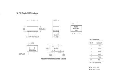 DC/DC-Wandler, SMD RECOM R0.5Z-1205 12 V/DC 5 V/DC 100 mA 0.5 W Anzahl Ausgänge: 1 x