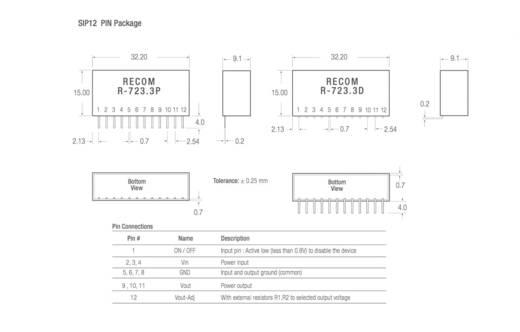 DC/DC-Wandler, Print RECOM R-743.3P 3.3 V/DC 4 A 13 W Anzahl Ausgänge: 1 x