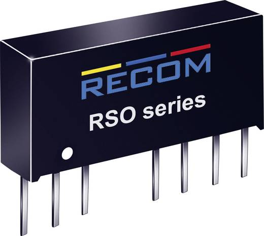 RECOM RSO-2412S DC/DC-Wandler, Print 24 V/DC 12 V/DC 83 mA 1 W Anzahl Ausgänge: 1 x
