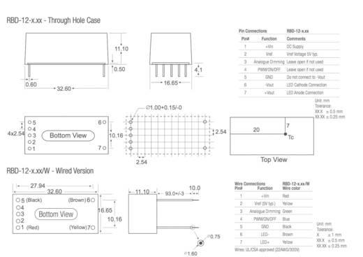 LED-Treiber 36 V/DC 500 mA Recom Lighting RBD-12-0.50/W