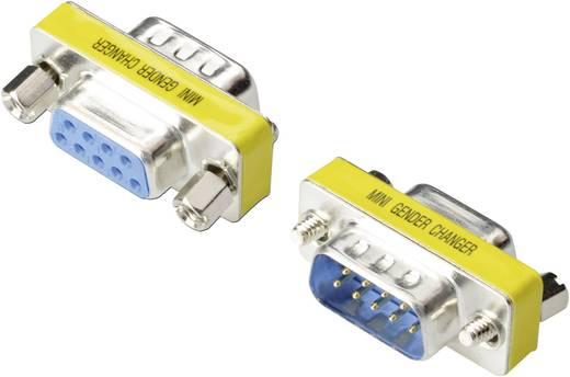 Seriell Adapter [1x D-SUB-Stecker 9pol. - 1x D-SUB-Buchse 9pol.] 0 m Silber Digitus