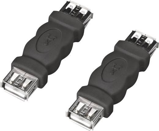 Digitus USB 2.0 Adapter USB 2.0 Buchse A an USB 2.0 Buchse A Schwarz