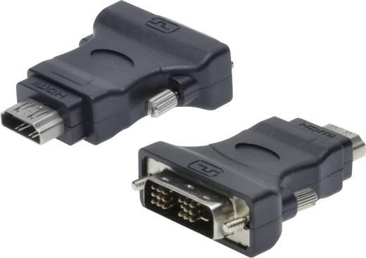 DVI / HDMI Adapter [1x DVI-Stecker 18+1pol. - 1x HDMI-Buchse] Schwarz Digitus