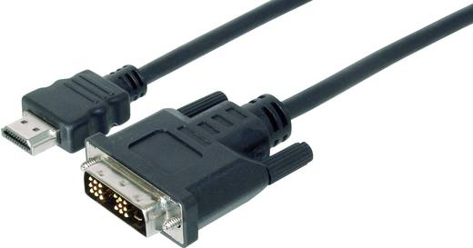 HDMI / DVI Anschlusskabel [1x HDMI-Stecker - 1x DVI-Stecker 18+1pol.] 2 m Schwarz Digitus