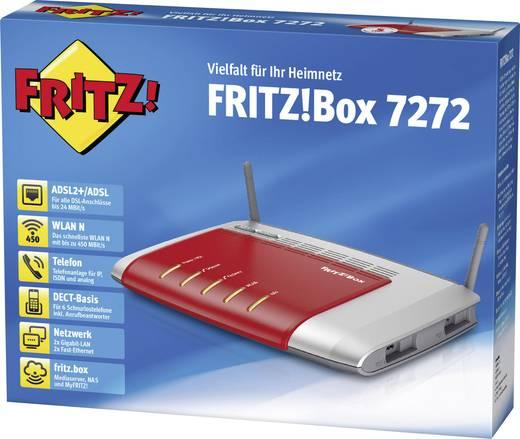 AVM FRITZ!Box 7272 WLAN Router mit Modem Integriertes Modem: ADSL, ADSL2+ 2.4 GHz 450 MBit/s