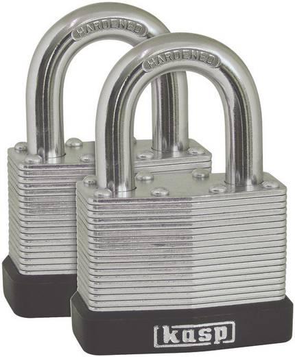 Vorhängeschloss 50 mm Kasp K13050D2 Silber Schlüsselschloss