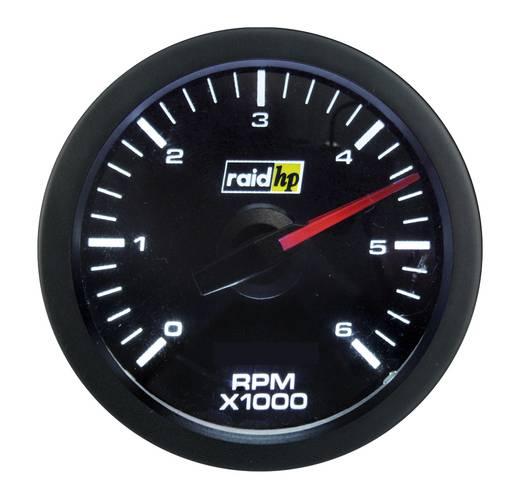 Kfz Einbauinstrument Drehzahlmesser Benzin- und Dieselmotor Messbereich 0 - 6000 U/min raid hp 660170 Sport Rot, Weiß 5