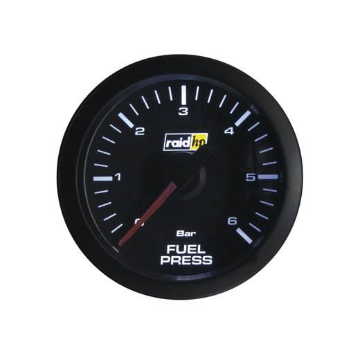 Kfz Einbauinstrument Benzindruckanzeige Messbereich 0 - 6 bar raid hp 660171 Sport Weiß, Rot 52 mm